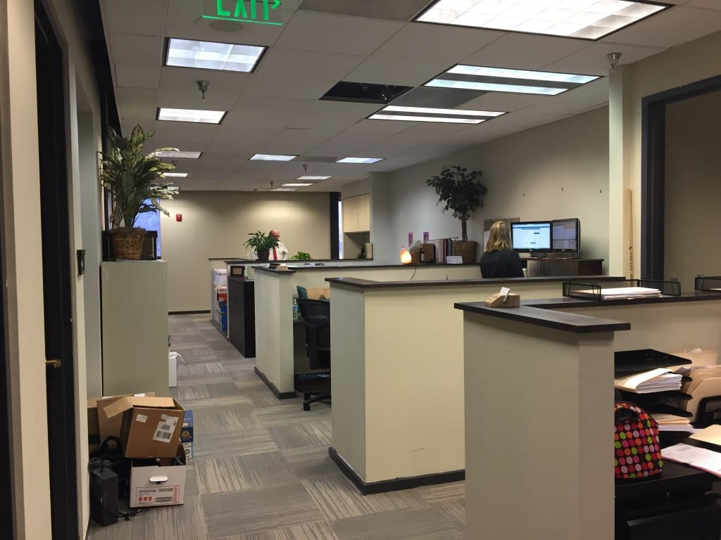 Tampa Law Office Support Staff Work Area