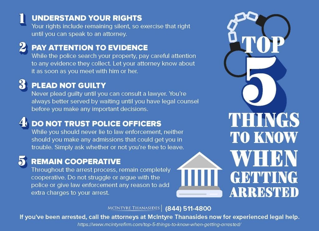 Top 5 Things to Know When Getting Arrested | McIntyre Thanasides Law