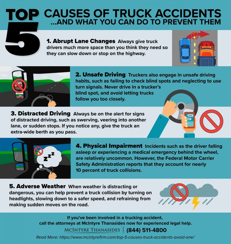 Top 5 Causes Of Truck Accidents And How To Avoid One